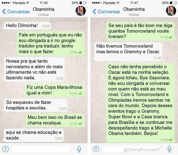 Dilminha conversando com Barack Obama