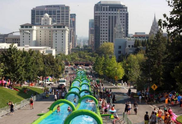 Giant slip and slide coming to Calgary streets http://t.co/SnTWguTres #yyc http://t.co/e185KjtW1t
