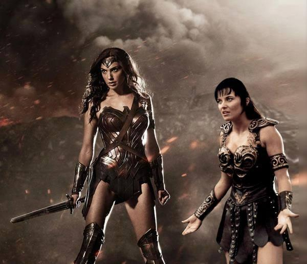 Xena's reaction to Wonder Woman's new look. http://t.co/bANaJrjN7i