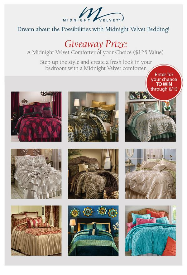 Midnight Velvet Comforter Giveaway