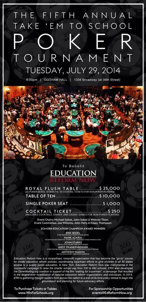 At Take 'em to School charity poker event NYC.Great cause, amazing prizes inc lunch/lesson w @philivey at his home! http://t.co/8DSDB0iQOK