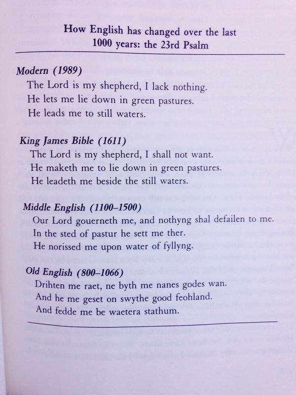 Psalm 23 in English