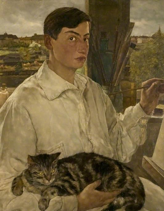 Slightly over-excited about #MuseumCats today. I suggest Self Portrait with Cat by Lotte Laserstein @leicestermuseum http://t.co/lxiaqDjqpH