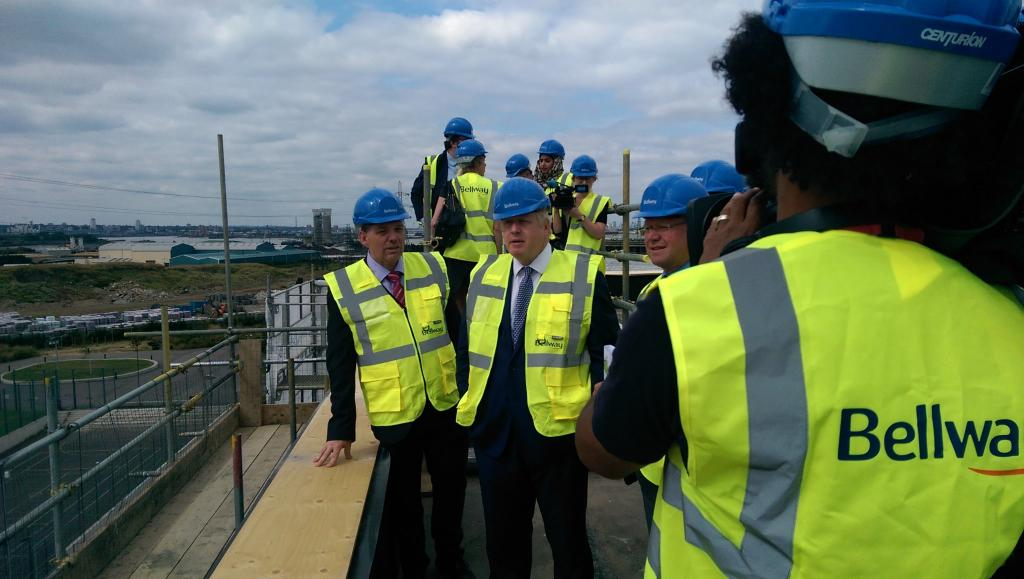 This morning, I launched the London Infrastructure Plan at the Barking Riverside Development http://t.co/sqLzizlssU http://t.co/h4cB5SjLv7