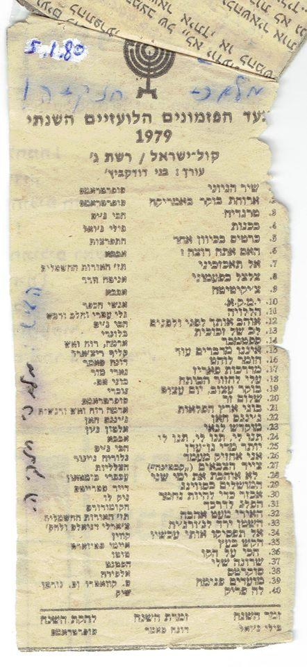 @SparrowMinded @ayeletmohar אפרופו, 1979. הביטו בזה. המצעד השנתי. הלועזי http://t.co/FJTCBwfNQy