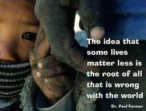The idea that some lives matter less.... http://t.co/g4SxB5CItd