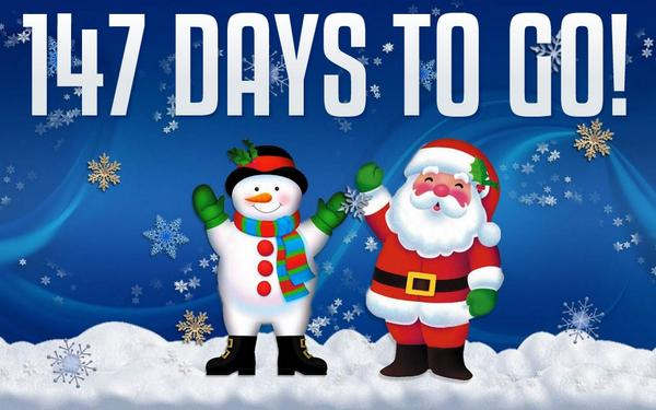your christmas countdown on twitter 147 days until christmas app httptcoulli1qdoj3 web httptco21w9eujwjj - How Many More Days Until Christmas 2014