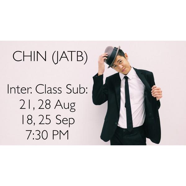 CHIN (JATB) will be subbing Fredy's 7:30 PM class on 21 and 28 Aug, 18 and 25 Sep! C'mon out and see you in class! http://t.co/3FoY63bLMM