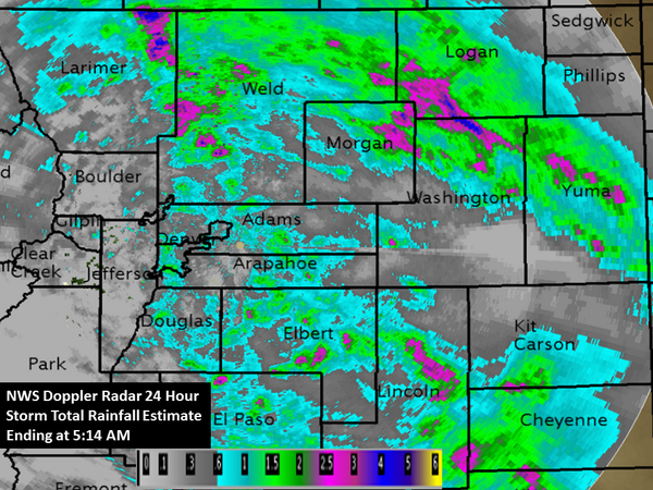 NWS Doppler Radar Hour Storm Total Rainfall Estimate