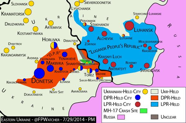 ForeignPolicyWatcher on Twitter Ukraine 730 AM Map Hrabove – Map Ukraine Fighting