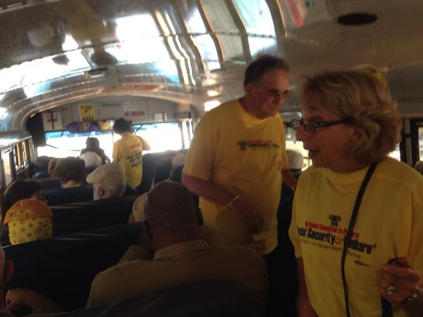 @NCPSSM volunteers back on the bus after celebrating #Medicare49 anniversary w/ @janschakowsky @NancyPelosi http://t.co/pcDFzOVSbU