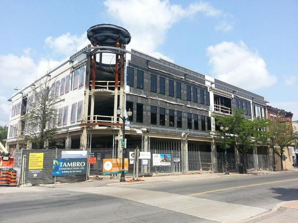 New development at James and Vine under construction (RTH file photo)