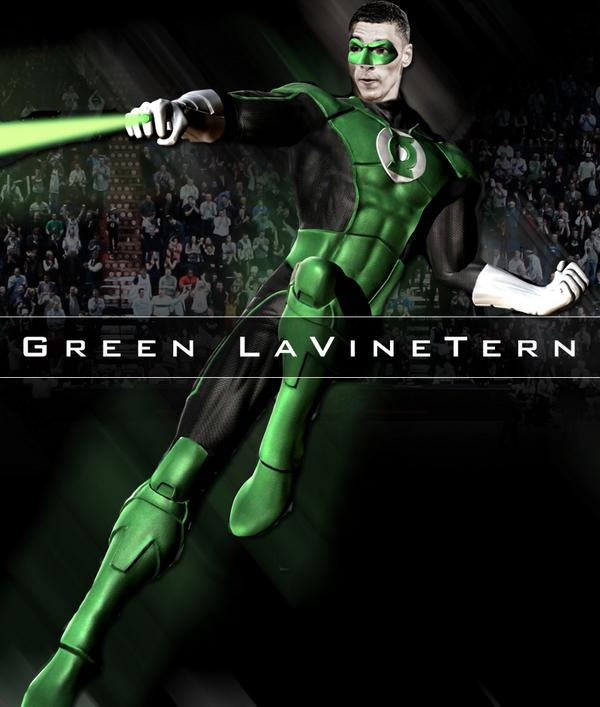 We see your Danny Green Lantern and raise you...Zach LaVinetern #NBASuperHeroes MT @spurs Danny Green Lantern http://t.co/eebj2zTQ2x