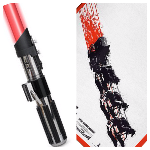 Am I the only one that thinks the HATEFUL EIGHT poster looks just like a lightsaber? http://t.co/qlNSuIxaVe #fb http://t.co/wL9pQLKfku