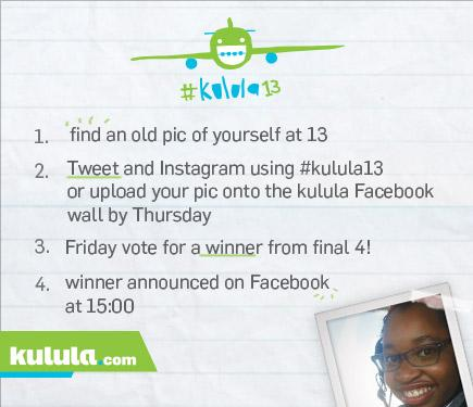 It's our 13th birthday & we are giving you gifts. For the next 4 weeks, you can win 2 return flights with #kulula13 http://t.co/05pTgJiO9Q