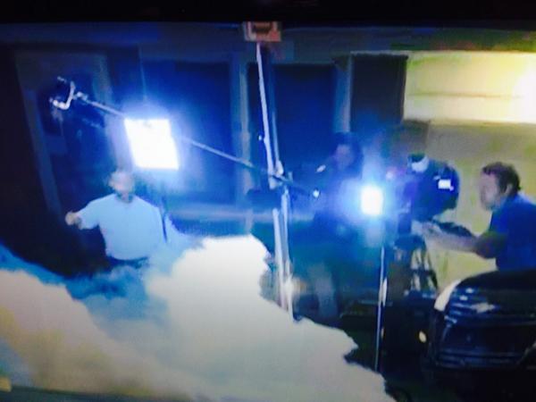 PIC: police firing tear gas at @ajam crew abt to go live in #Ferguson http://t.co/NXxHC3AoN3