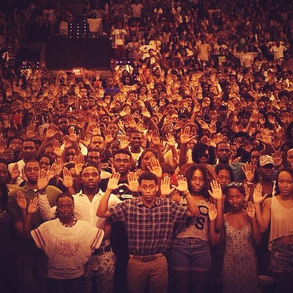 Are media blackouts legal? #Ferguson #MikeBrown. Is the shooting of unarmed black men with heir hands up legal? http://t.co/9D4AyKKBV5