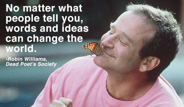 RIP Robin Williams. Totally devastated to see my RM leave.Every performance, every comedy I wrote had some of ure DNA http://t.co/TYJw16FKmt