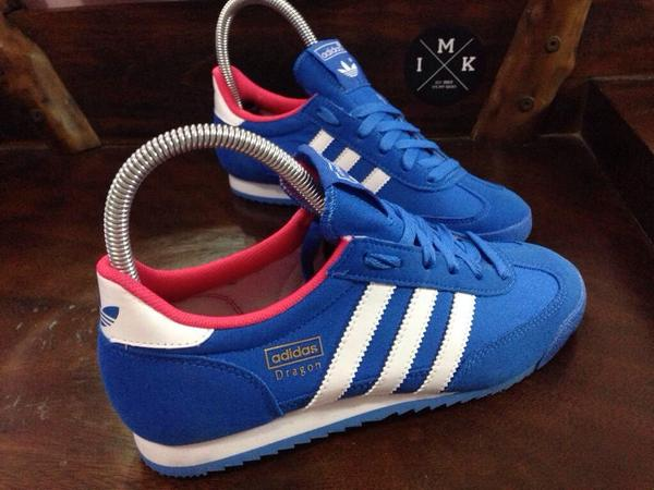 adidas dragon blue pink