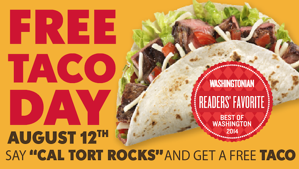 Happy #FREE Taco Day Cal Torter's! #CalTortRocks http://t.co/DCrXwe0z3e