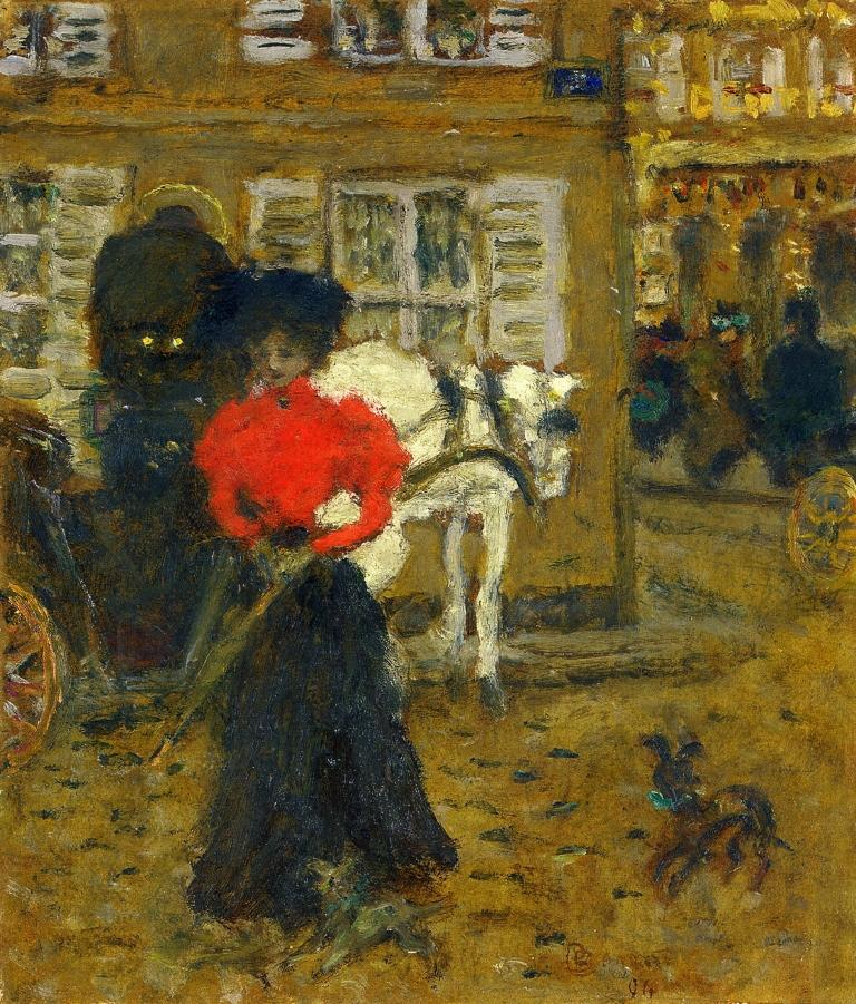 On the Street, Woman with an Umbrella
