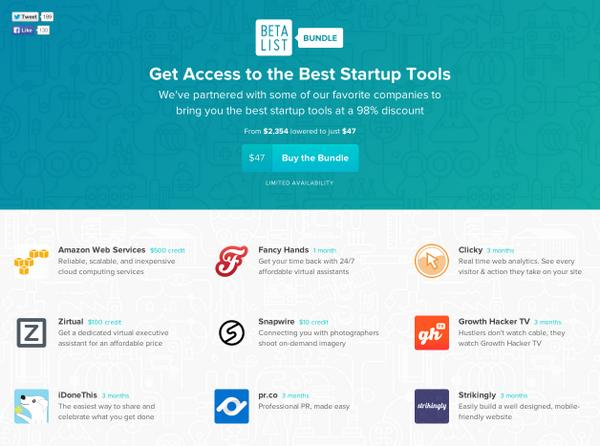 Proud to be included in the @BetaList bundle of tools for early stage #startups http://t.co/yJV56tmfPY http://t.co/Mjm4HcW7sC