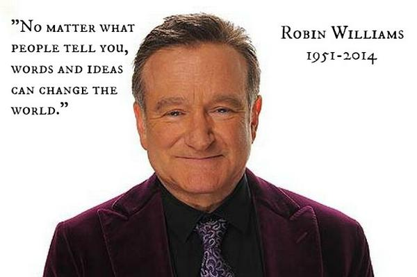 So sad this morning. We just never know what's going on with others. Kindness matters. Always. #RIPRobinWilliams http://t.co/qjacpsKWmu