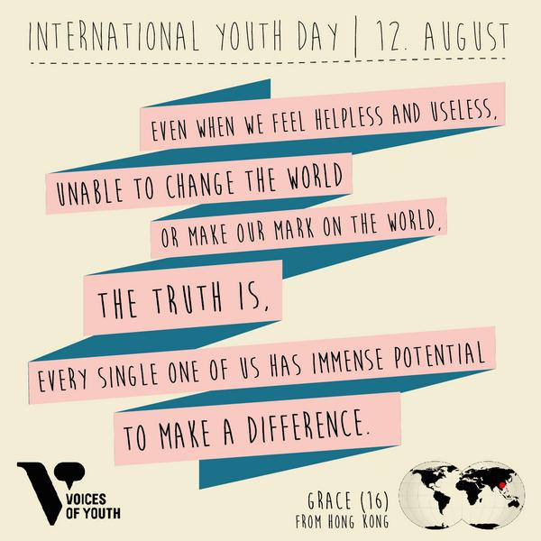 voices of youth on happy youthday this week we ll be