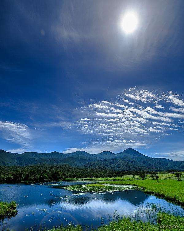 本日撮影した知床連山です。薄い幻日環(太陽から左に伸びている淡い光の筋)も見えていました。 pic.twitter.com/rzqazrdJmx