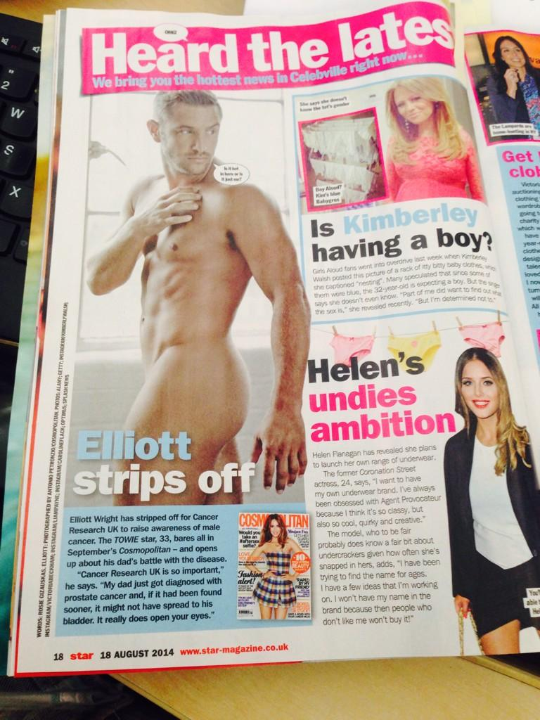 RT @The_CAN_Group: Loving @elliottwright_ in this week's @star_magazine supporting @CR_UK! http://t.co/zB4U1sczej