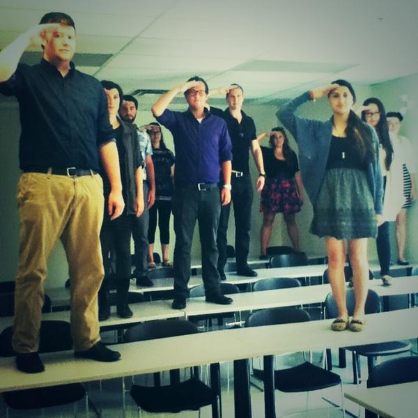"""O Captain! My Captain!""  Paying tribute to #RobinWilliams amazing career & life. @LaurierWellness http://t.co/aKIoEUuhiR"