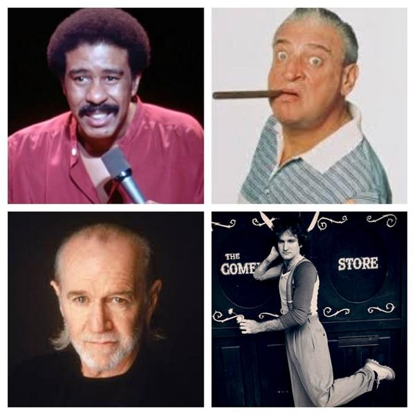 Founding Fathers #RichardPryor #RodneyDangerfield #GeorgeCarlin #RobinWilliams #puregenuis @TheComedyStore #RIP http://t.co/S5JctDndKE