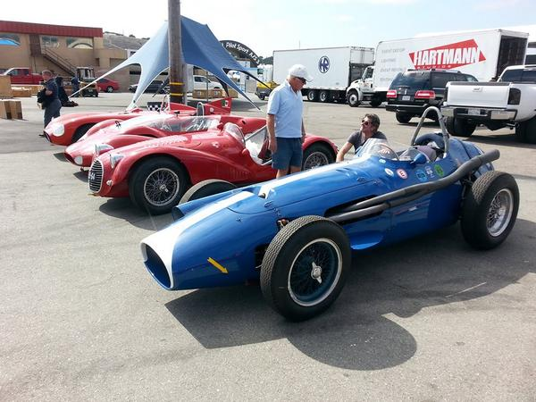 Four amazing Maseratis have arrived today from Germany. A 250F, A6 GCS, 300S and Tipo 63. #Maserati #MontereyReunion http://t.co/si7QnrNzqW