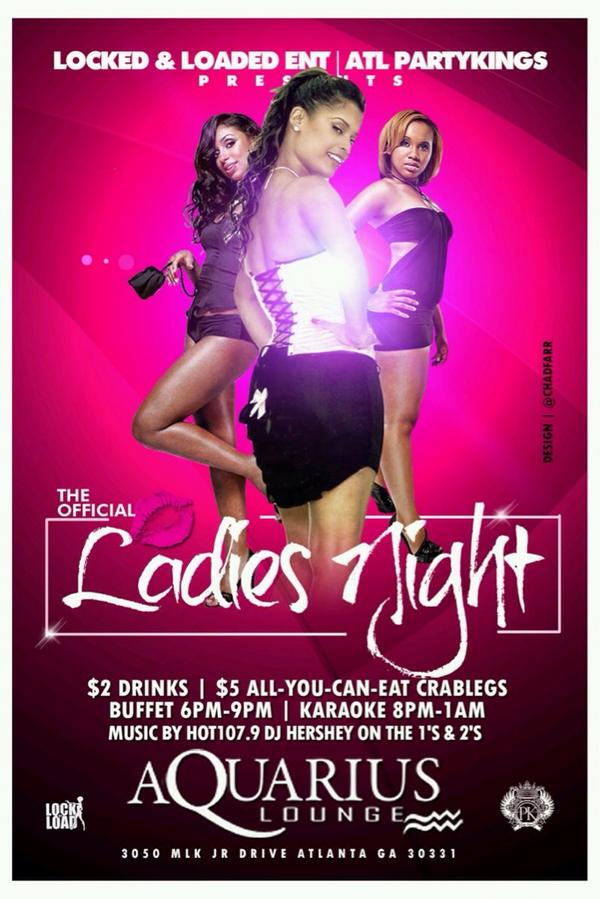 Join us tonight @AquariusLoungei For Ladies Night $2 Tuesday's. Ladies #Free All Night http://t.co/fXKVm6Zjyg