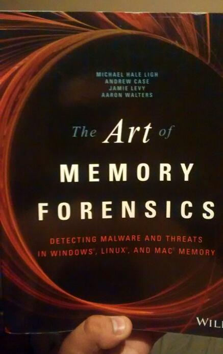 "Finally ""The Art of memory forensics"" On my hands. This reading will be amazing. I'll learn a lot.  #DFIR =) http://t.co/biim6jFKyD"