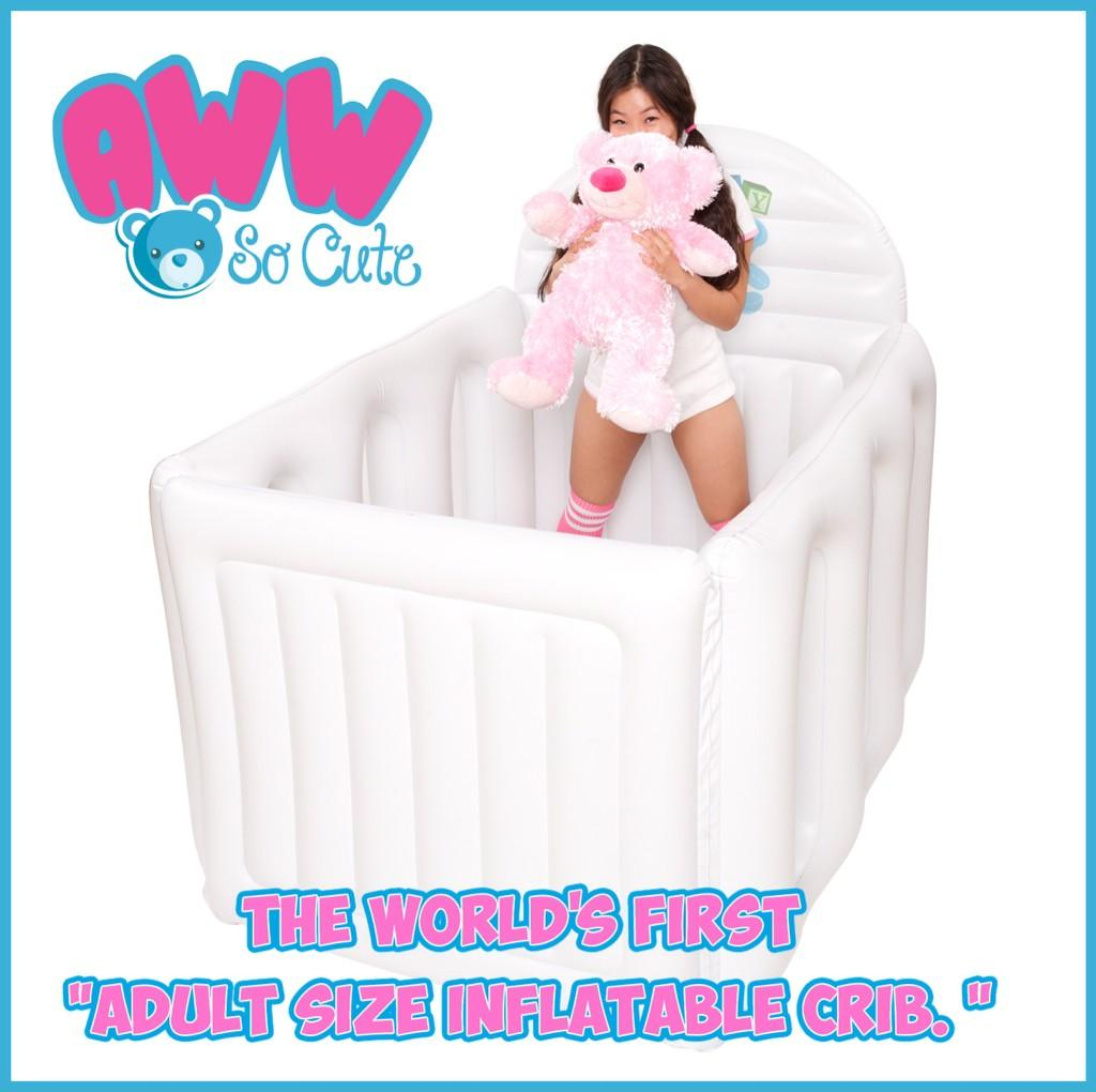 awwsocute on twitter have you seen this adorable a inflatable crib
