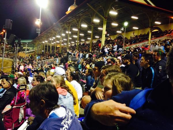 Practically a full house for People's Day evening show at the #Ekka. http://t.co/LiUzBBgsma