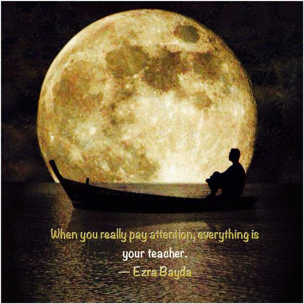 When we really pay attention, everything is your teacher.  ― Ezra Bayda http://t.co/iQ9beYZ2HB