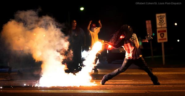 "Hot Cheetos ""@kodacohen: Police fire tear gas at protestors for the third night in a row in Ferguson, Mo. #Ferguson http://t.co/DE2u2IIGBK"""