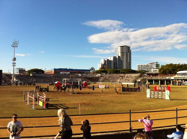 This is what #EKKA day is all about... Sunshine, ice cream & show jumping #brisbaneanyday http://t.co/sZKJUtJYic