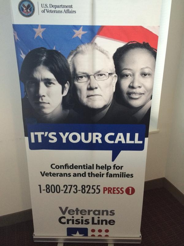 #Veterans Crisis Line 1-800-273-8255 -- It's Your Call. @DeptVetAffairs http://t.co/UA9yGglFJi