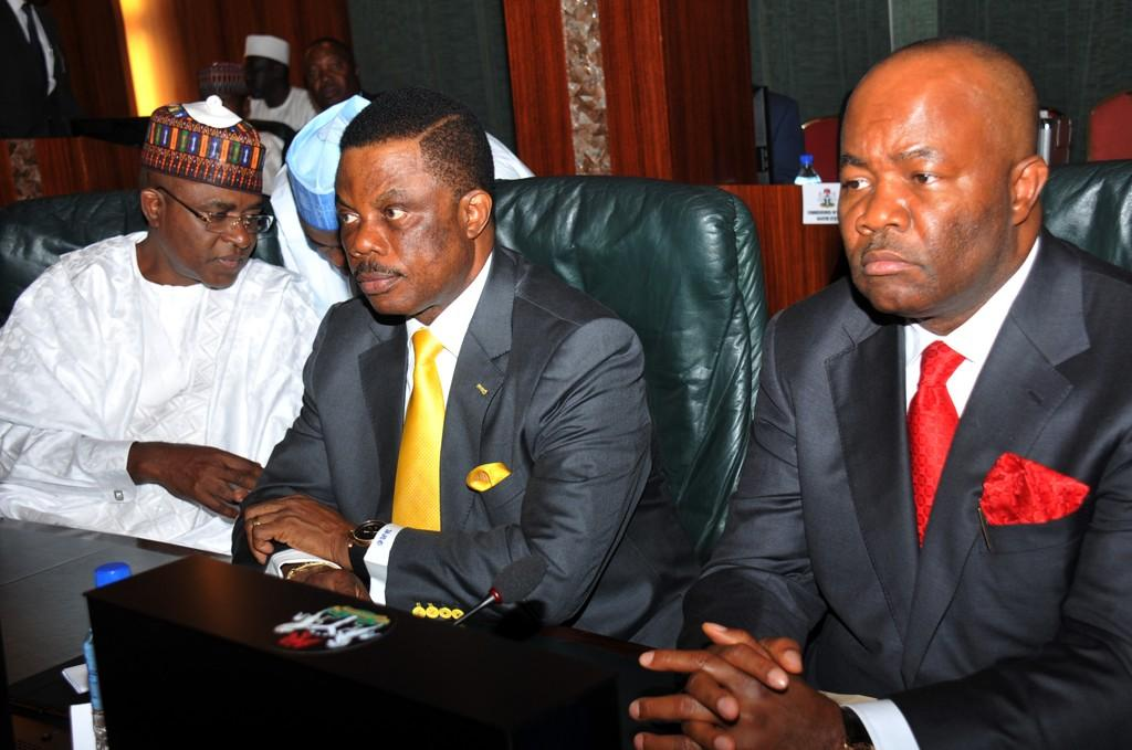 State governors attending special meeting with President Jonathan on Ebola Virus at the Villa today