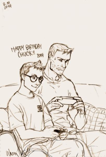 Oi, Happy Birthday, Chuck Hansen! (What if 11-yrs-old Chuck was wearing glasses version) もしチャックが眼鏡男子だったら版 =B