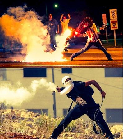 """Vibrant democracy"", ""American dream"". Lift up that damn smoke screen. #RESISTANCE from #Ferguson to #Falasteen. http://t.co/sQAI3KVXIc"