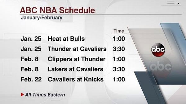 Nba Christmas Schedule.Nba On Espn בטוויטר The Nba On Abc Schedule Includes The