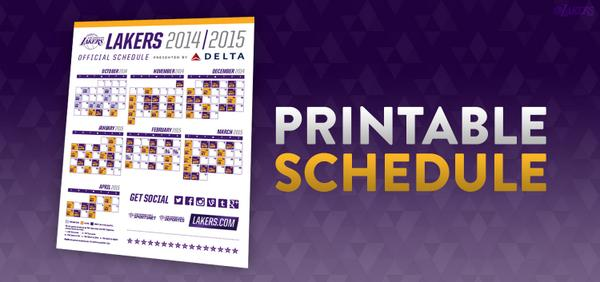 picture relating to Lakers Printable Schedule known as Los Angeles Lakers upon Twitter: \