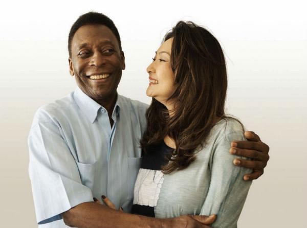 Márcia é 25 anos mais nova que o Rei Pelé, segundo entrevista.