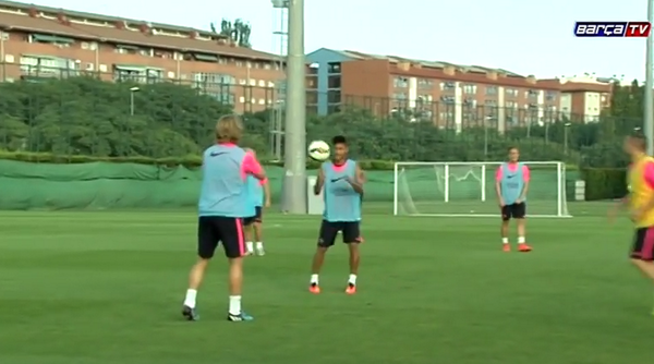 Barcelona play Olympic Handball at training [Video]