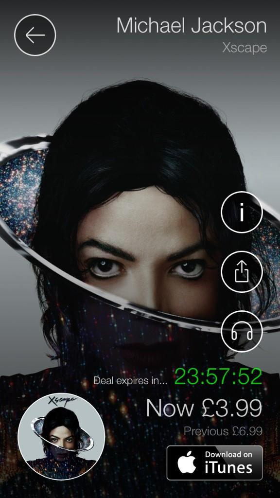 The King of Pop @michaeljackson #XSCAPE is on our free app #albumoftheday 2014 material! http://t.co/eqYHS0wV84 http://t.co/yxbtG29tPl