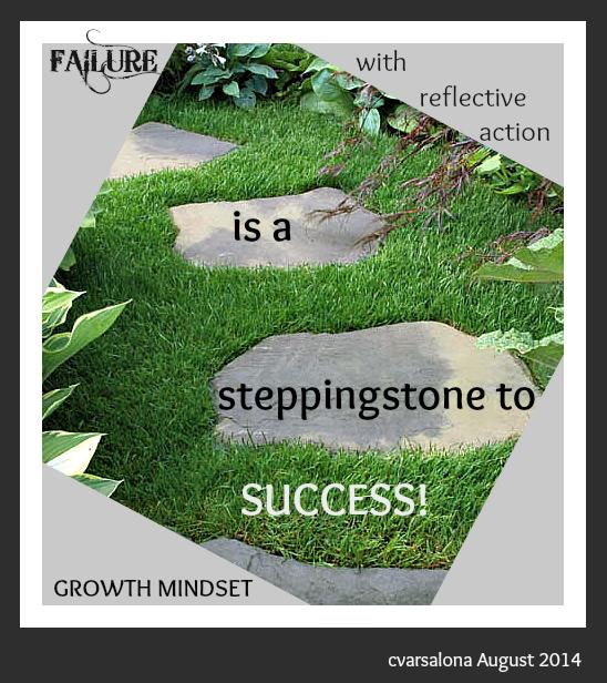 Words to Live By=>Growth Mindset:Failure w reflective action is a steppingstone to success! #wyoedchat #satchatoc http://t.co/KKYlI3Adcq